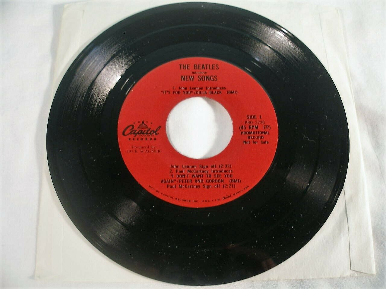 The Beatles Introduce New Songs & Sing Shout, 7 Inch Vinyl Promo Record, Capitol