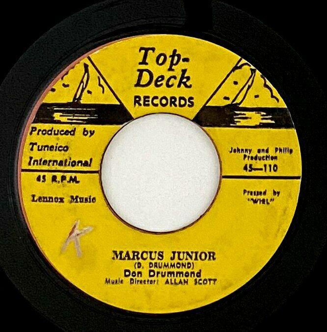 "Don Drummond/Ferdie Nelson ""Marcus Junior/Weeping.."" Rare Reggae 45 Top Deck mp3"