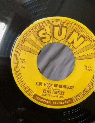 ELVIS SUN 1954 U-129 That's All Right /Blue Moon 209 HOLY GRAIL MISPRINT ?