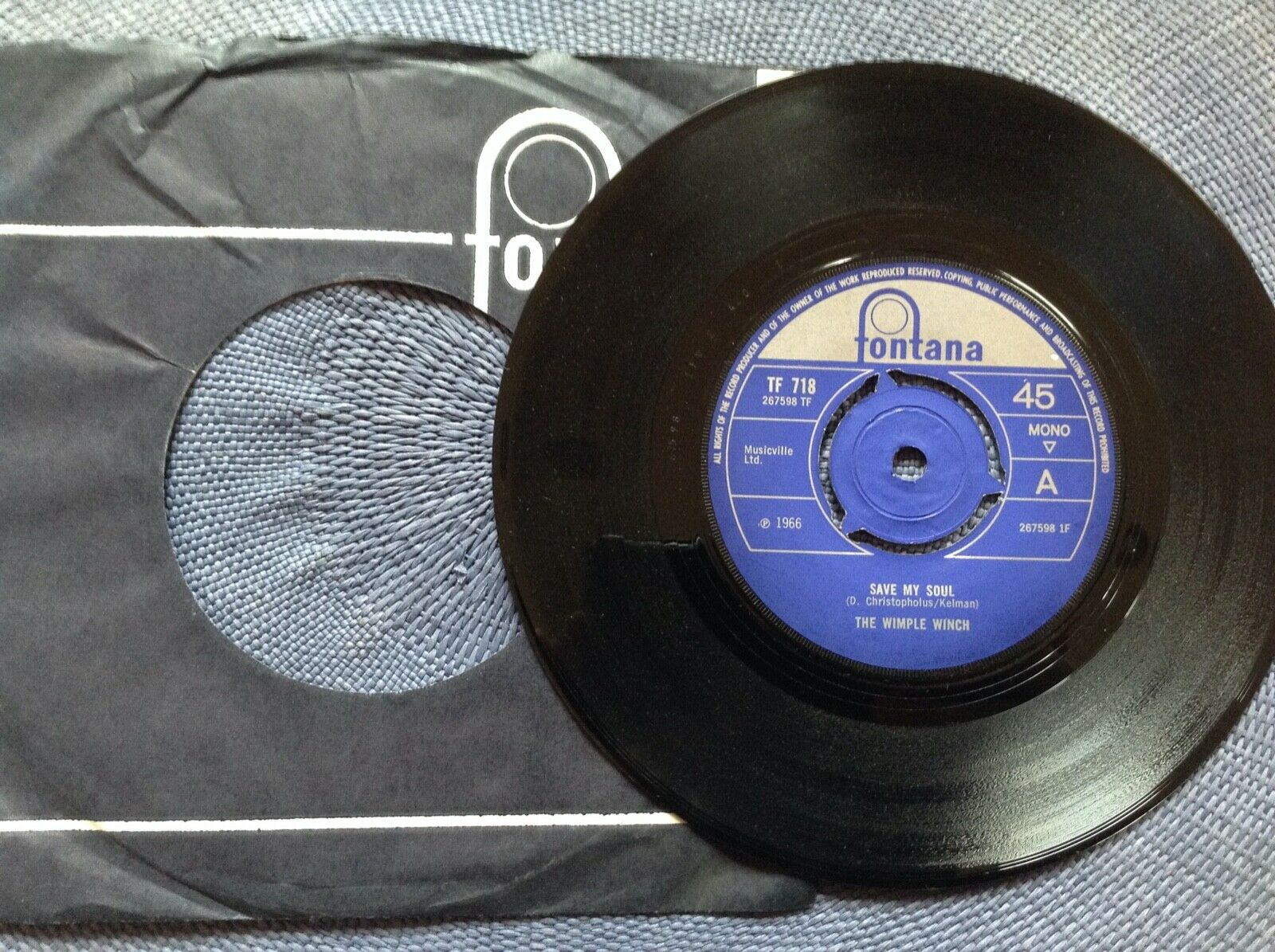 THE WIMPLE WINCH - SAVE MY SOUL rare UK 1966 PSYCH FREAKBEAT MOD UNPLAYED MINT-