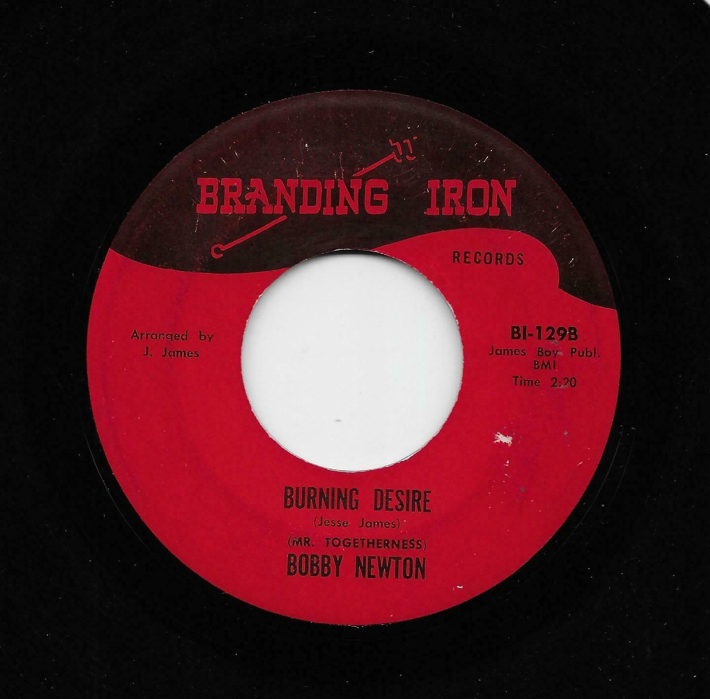 Bobby Newton - Burning Desire / We Got Our Thing Together (Soul/Funk, 45) 129