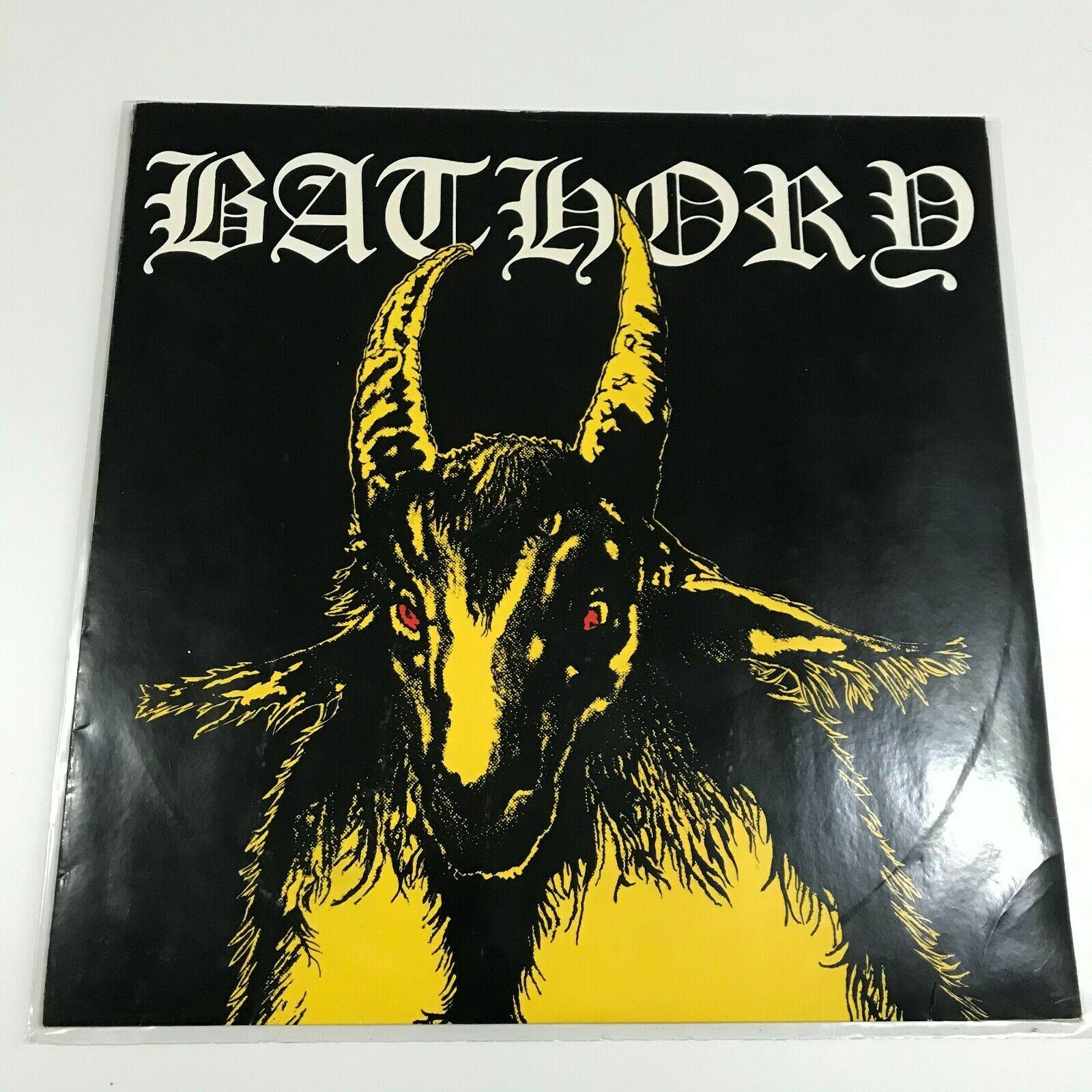 Bathory Yellow goat LP 1st press Black mark 84 venom mayhem satyricon