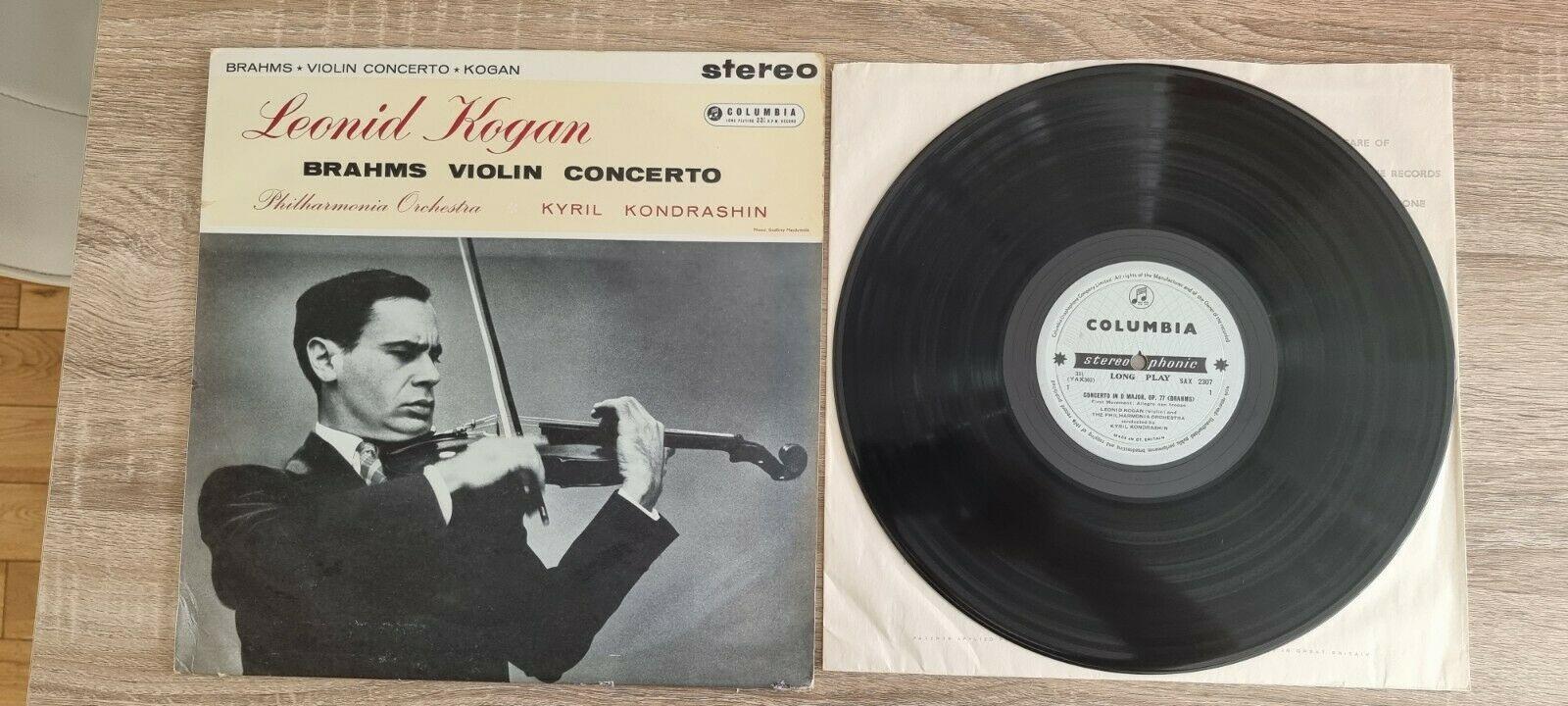 SAX 2307 B/S UK 1st LP LEONID KOGAN Brahms Violin Concerto D Major Ex