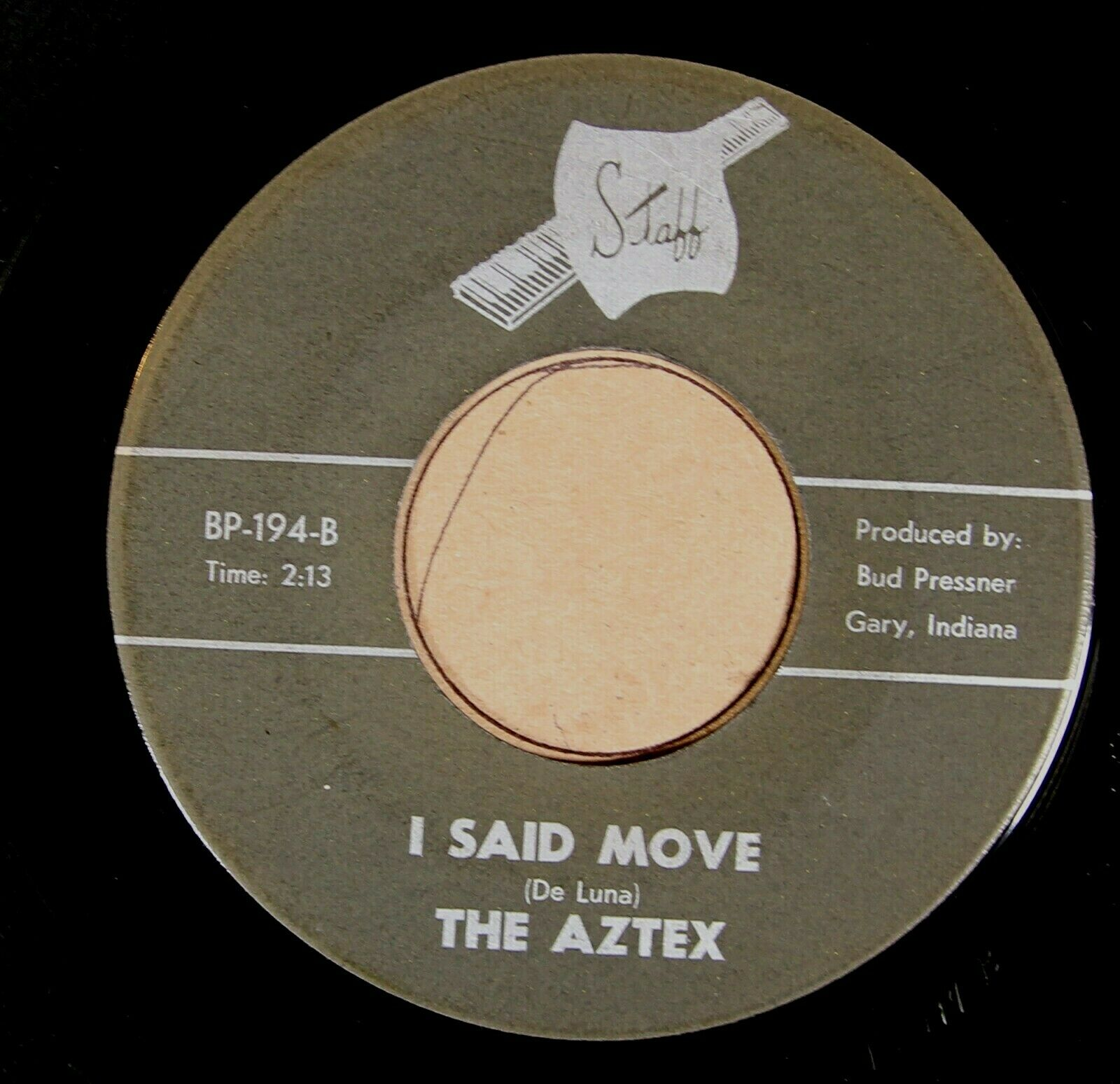 """The Aztex STAFF 194 RARE  VG """"I Said Move / The Little Streets In This Town"""" 45"""