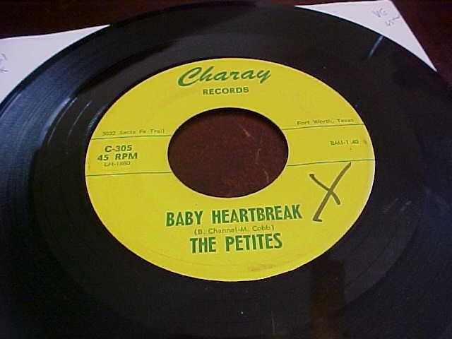 "THE PETITES-CHARAY  "" BABY HEARTBREAK "" RARE TEXAS GIRL GROUP- LISTEN"