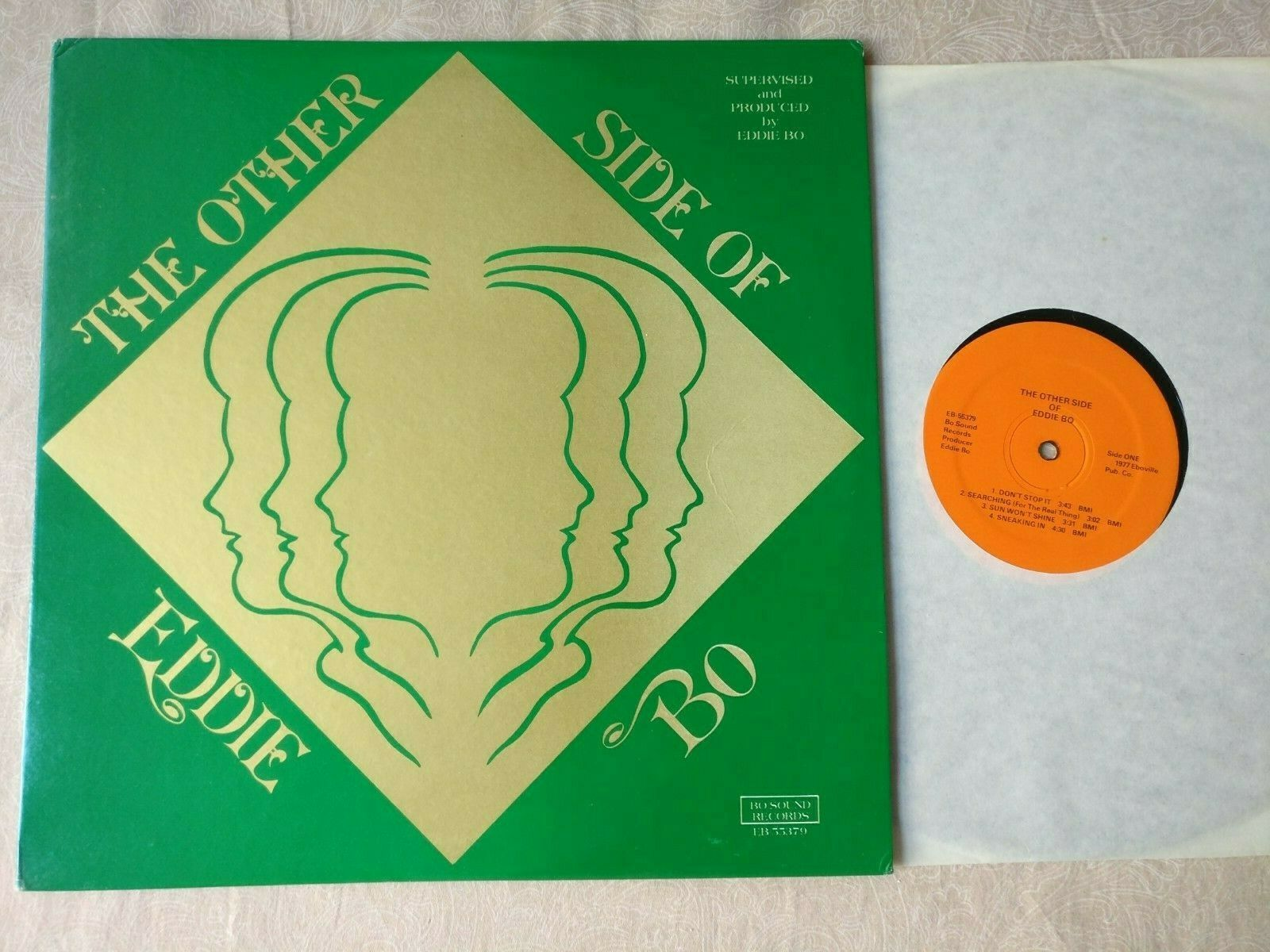 EDDIE BO The Other Side Of US 1st Press PRIVATE Soul Jazz Funk BO-SOUND VG+