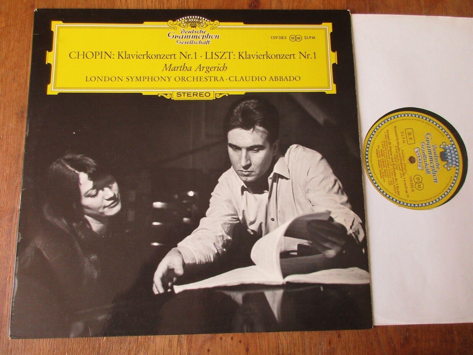 Chopin etc - Piano Concs / Argerich / Abbado / DGG 139 383 Stereo Ed1 Tulips NM