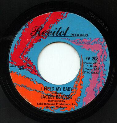 HEAR- Rare Northern Soul 45 - Jackey Beavers - I Need My Baby - Revilot # RV 208