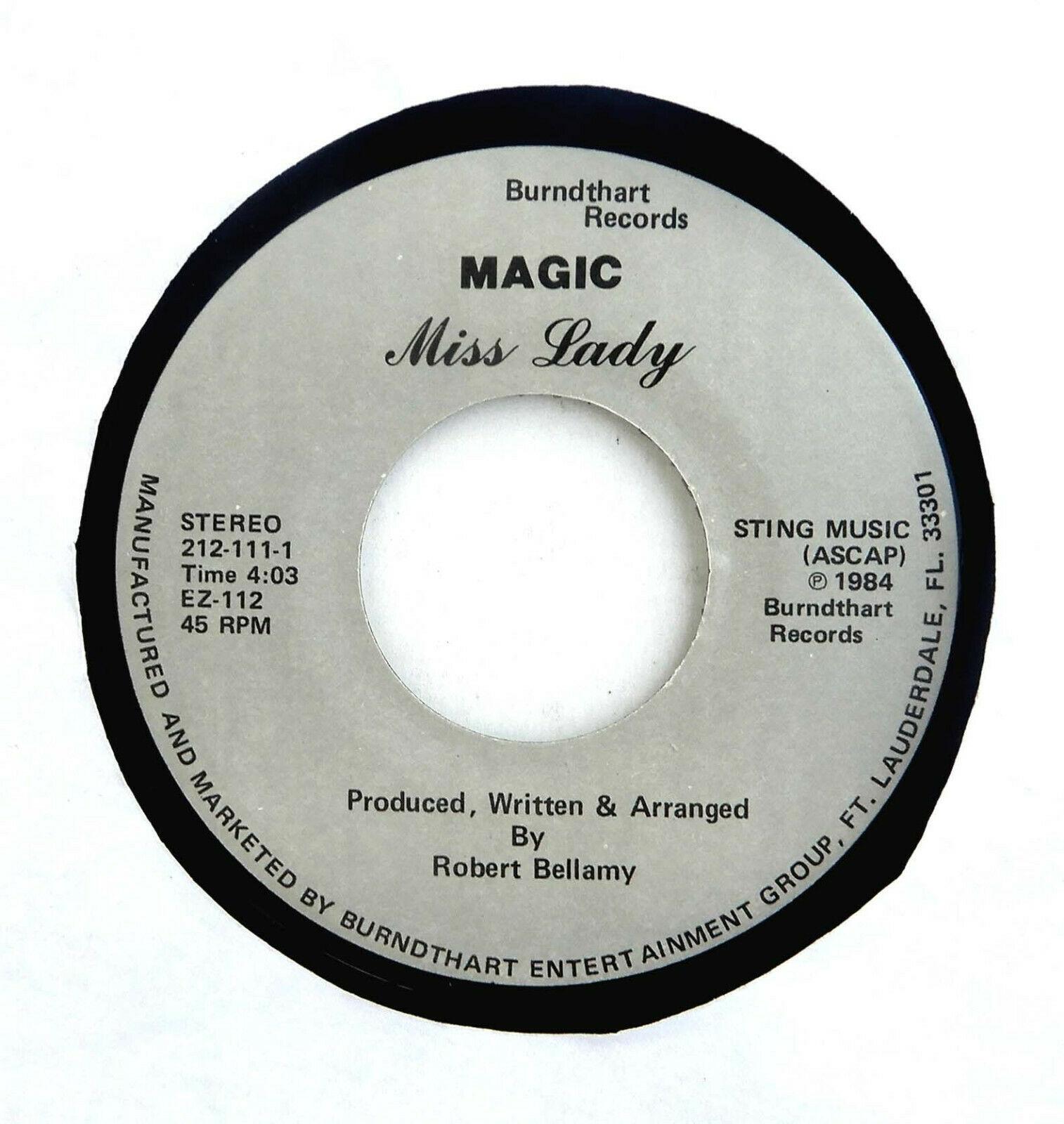 MAGIC 45 Miss Lady BURNDTHART Rec '84 A+  Florida Modern Soul HEAR Funk