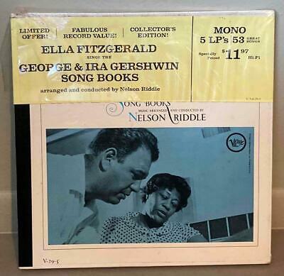 ELLA FITZGERALD SINGS GEORGE & IRA GERSHWIN SONG BOOKS SEALED 5-LP BOX SET