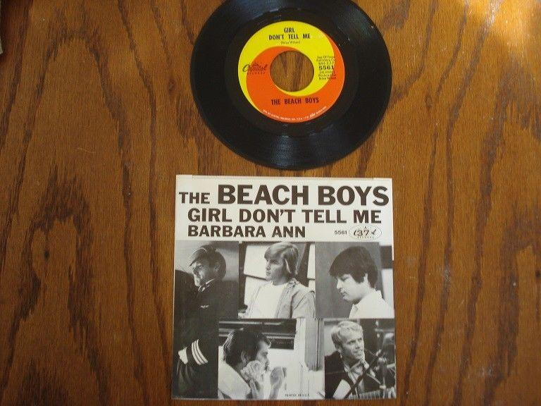"BEACH BOYS, ""Barbara Ann/Girl Don't Tell Me"", Picture Sleeve 45RPM, 1965"
