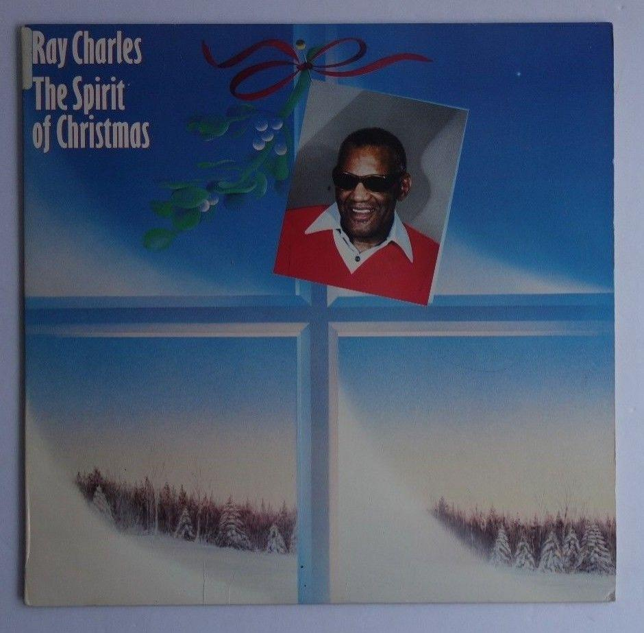 Ray Charles The Spirit Of Christmas Rare Original 1985 Columbia Record LP