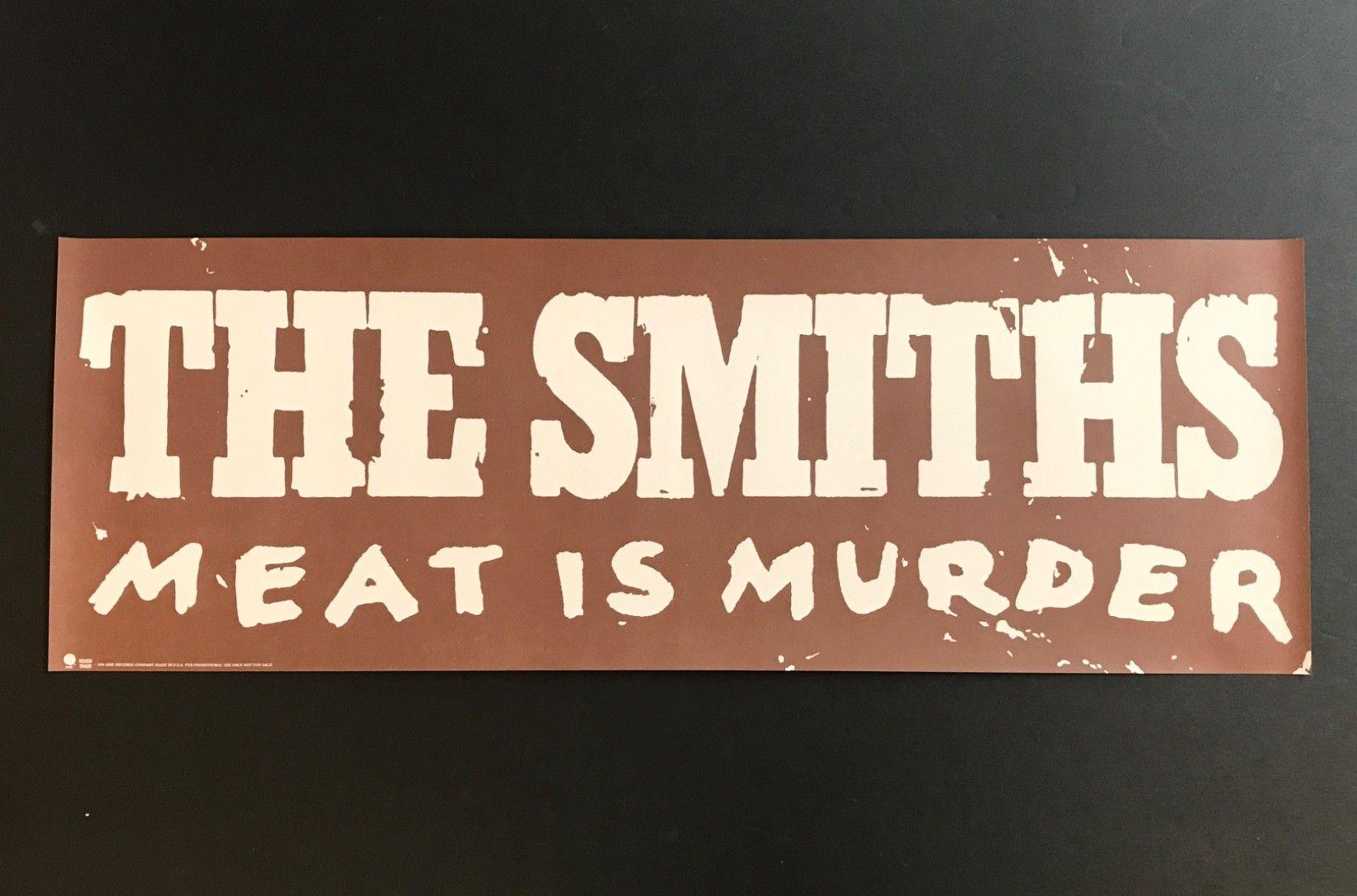 "THE SMITHS Meat Is Murder VINTAGE '85 PROMO POSTER 23"" x 8"" Morrissey Marr SIRE"