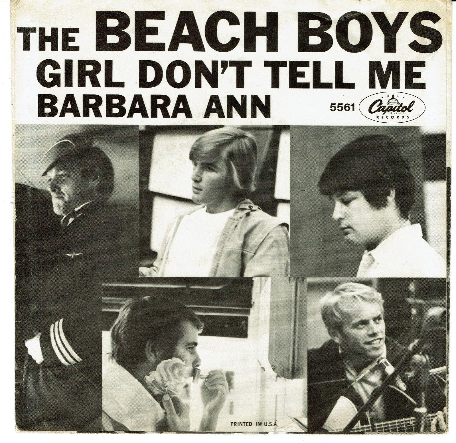 Beach Boys Barbara Ann 45 & Picture Sleeve