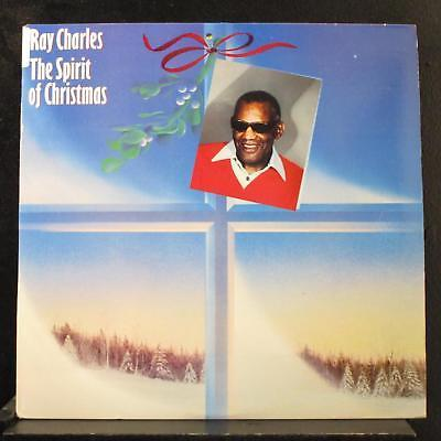 Ray Charles - The Spirit Of Christmas LP Mint- C 40125 Record 1985 Rare Cover