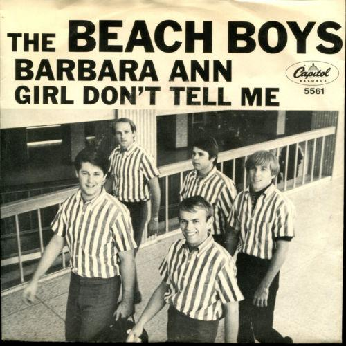 THE BEACH BOYS Barbara Ann on Capitol 5561 45 With Picture Sleeve