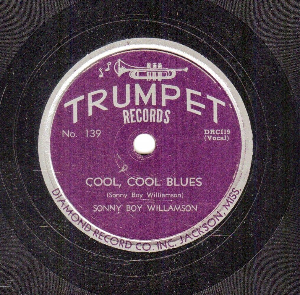 298p. Sonny Boy Williamson - Cool, Cool Blues & Do It If You Wanta - Trumpet 139