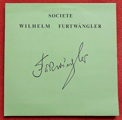 Societe Wilhelm Furtwangler **Original French SWF 8203/4 ED1 2LP**