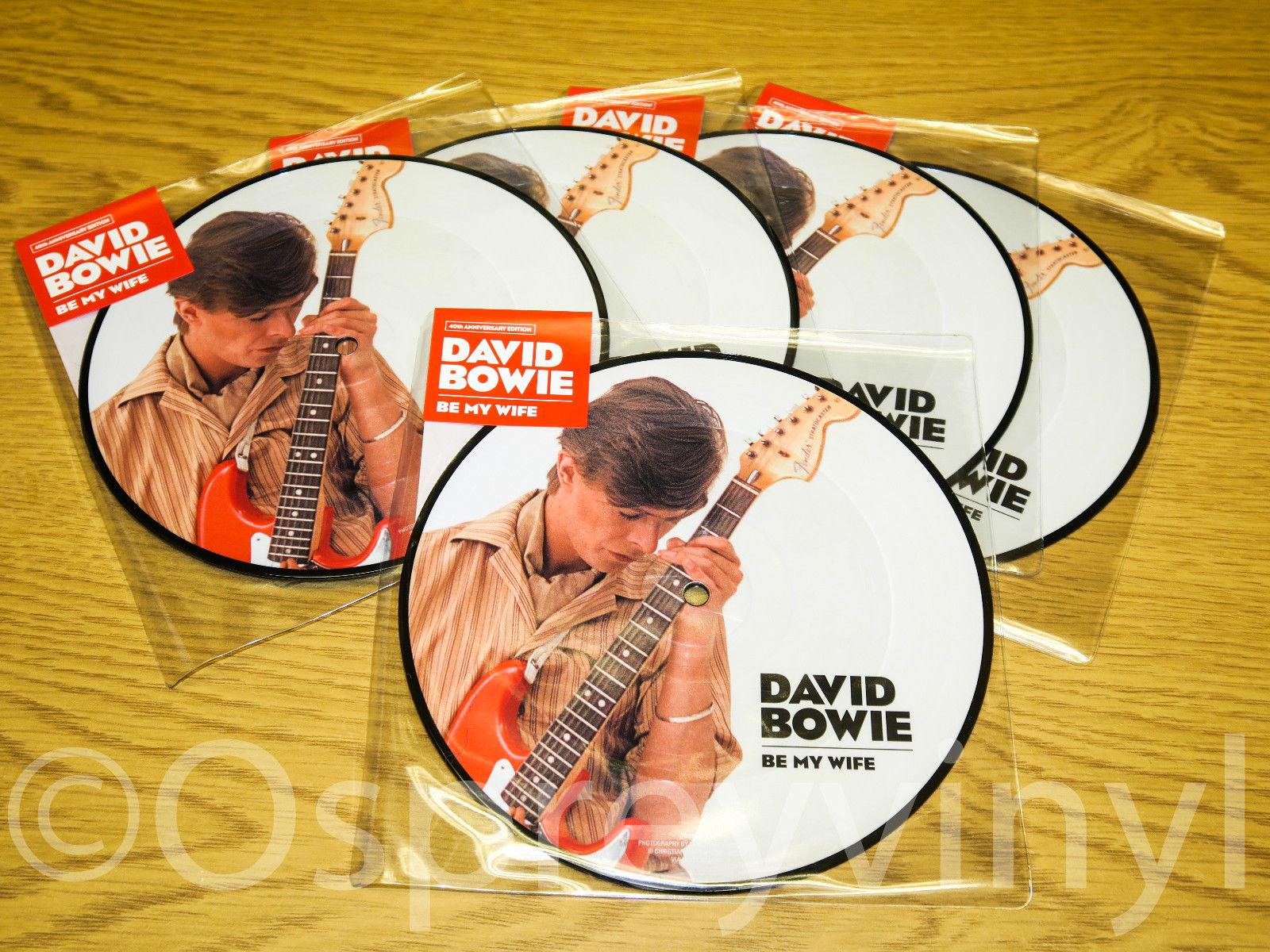 "5 copies x David Bowie Be My Wife Brand New 7"" picture Disc Sleeve & Sticker"