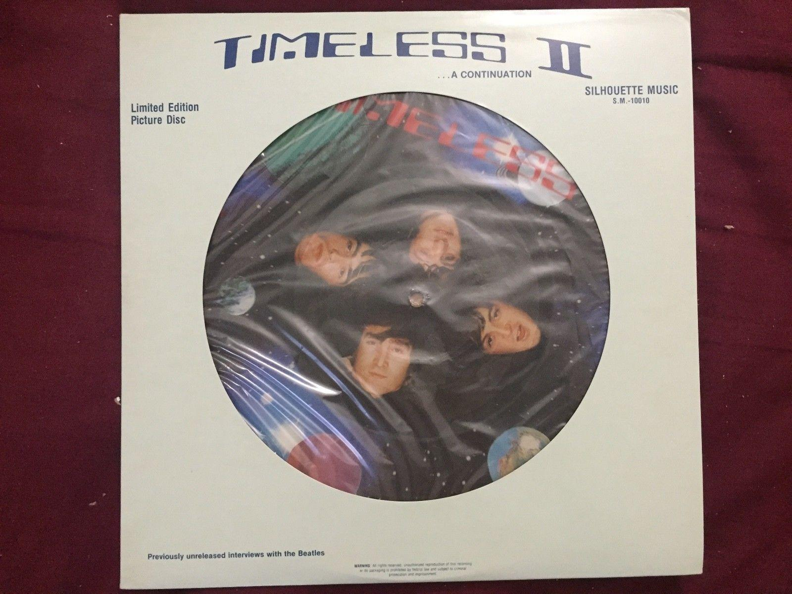 THE BEATLES TIMELESS II LIMITED EDITION PICTURE DISC VINYL RECORD LP VG++++