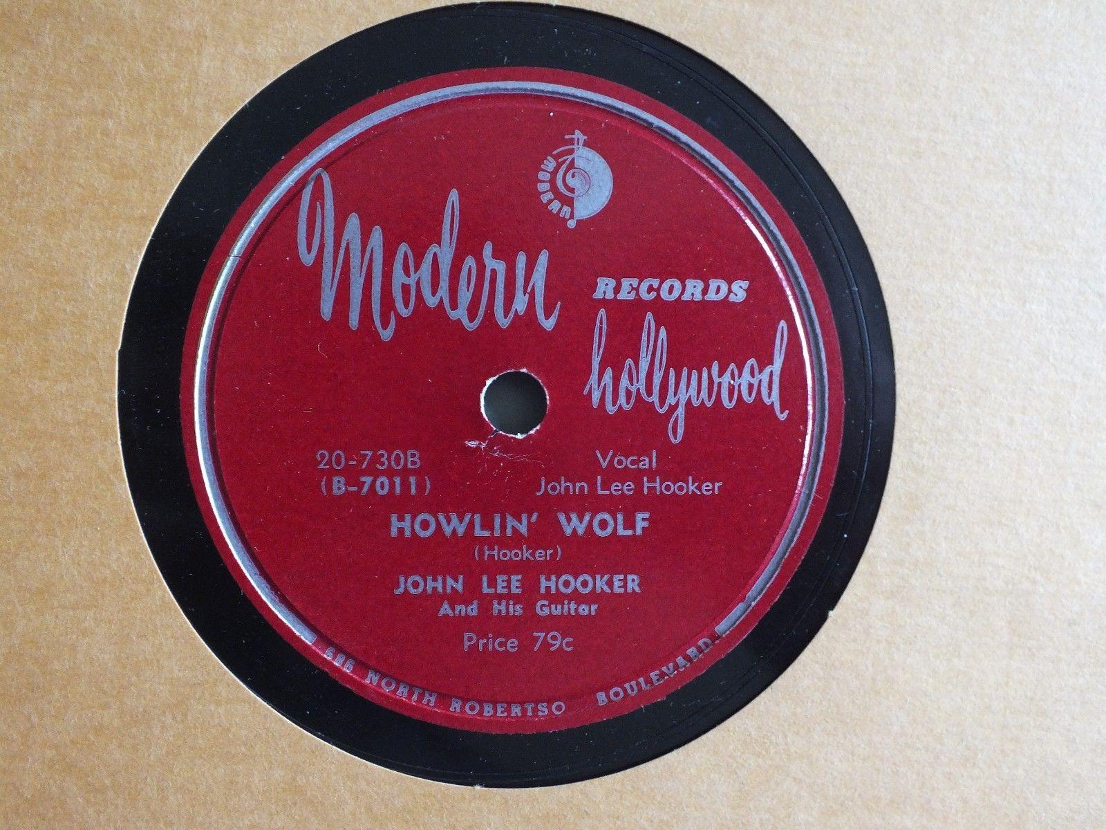 JOHN LEE HOOKER- Howlin' Wolf/Playing the races - MODERN 20-730 - BLUES 78