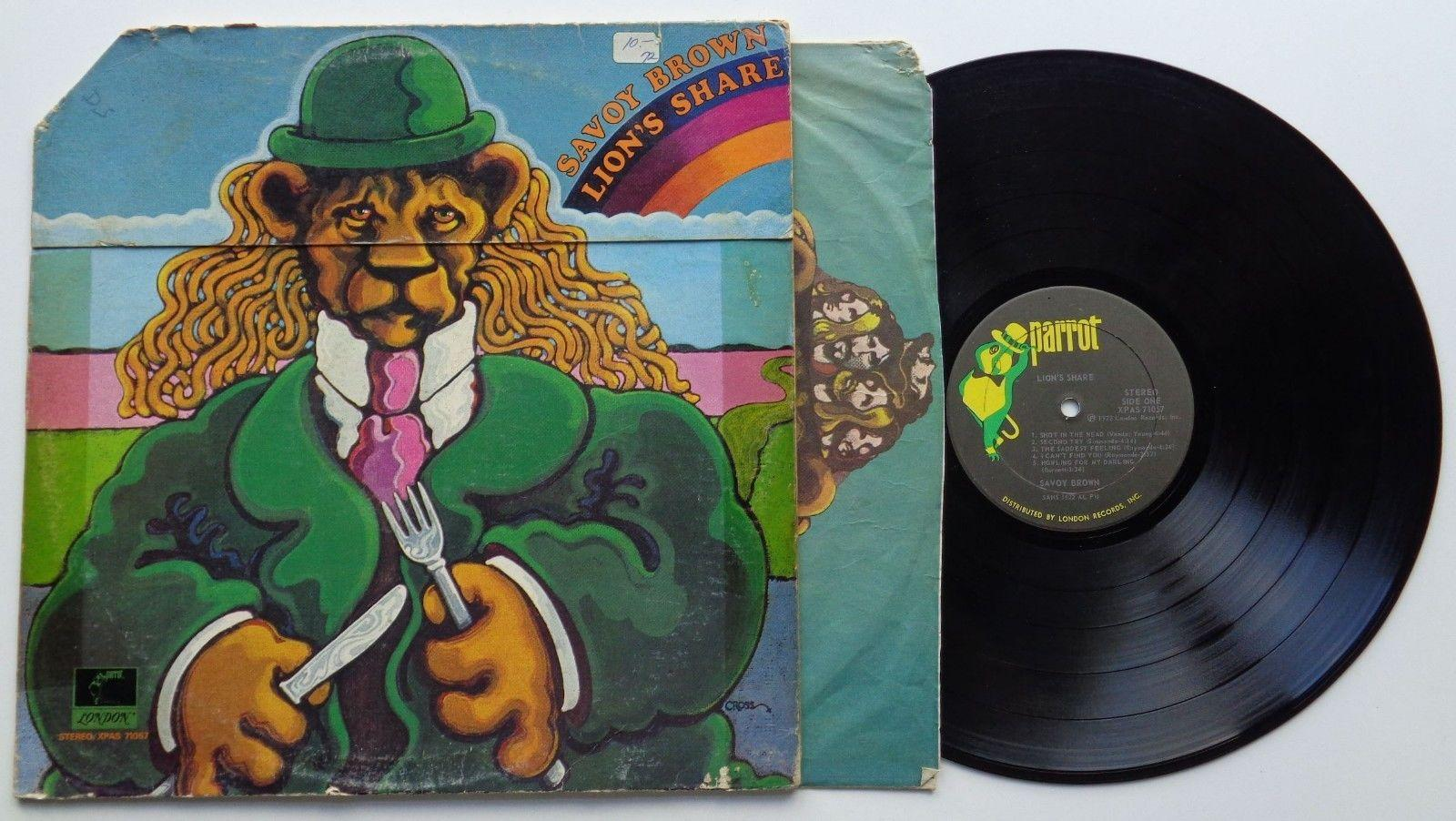 235	Savoy Brown	Lion's Share	(XPAS 71057)	US LP in Gimmick-Sleeve + OIS, parrot