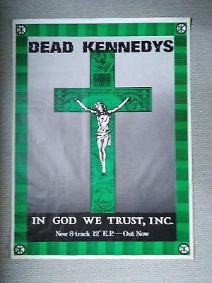 "Original Dead Kennedys promo poster for EP ""In God we trust, Inc."", 1981."