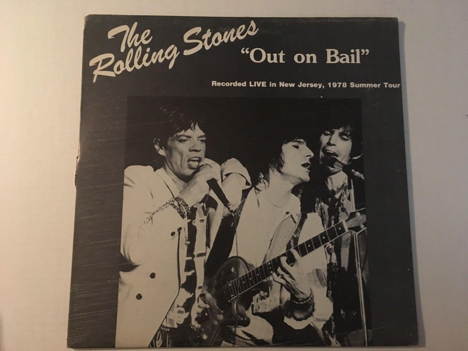 THE ROLLING STONES Out On Bail New Jersey 1978 Tour LP Unofficial