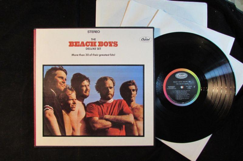THE BEACH BOYS Deluxe Set 30+ greatest hits CAPITOL 3-LP BOX SET DTCL-2813 EX