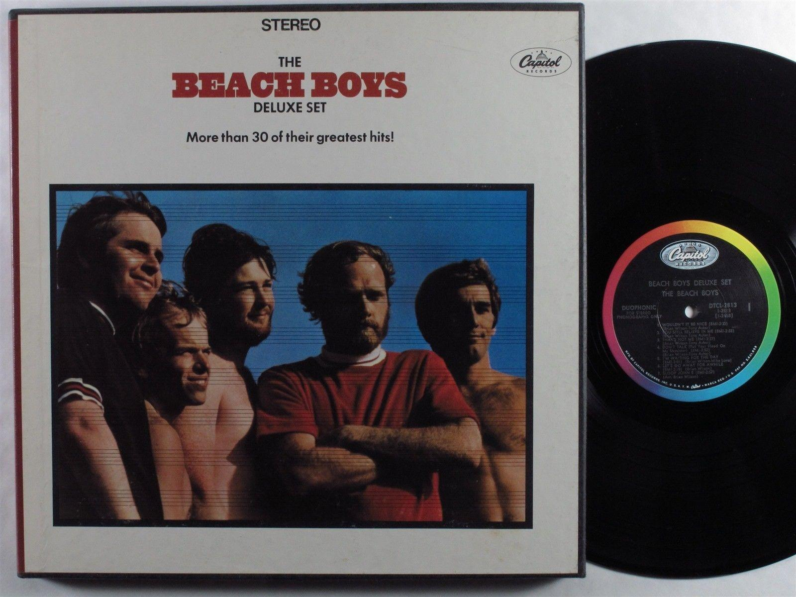BEACH BOYS Deluxe Set Greatest Hits CAPITOL 3XLP NM/VG++ boxset