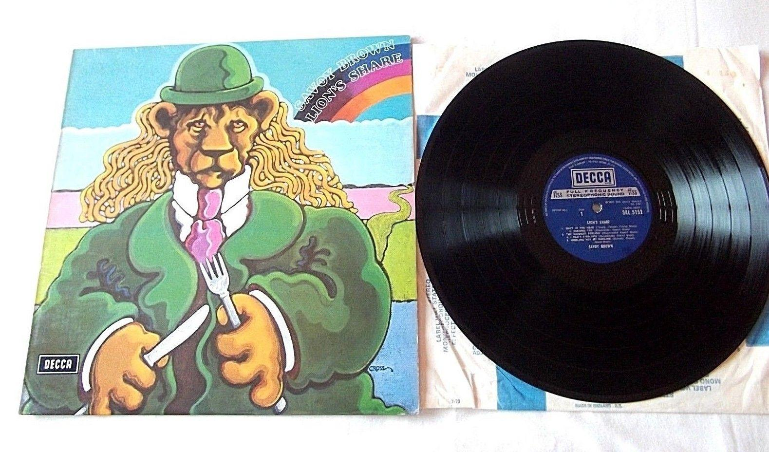 "Savoy Brown "" Lion's Share "" UK Press Album Decca Record Label"