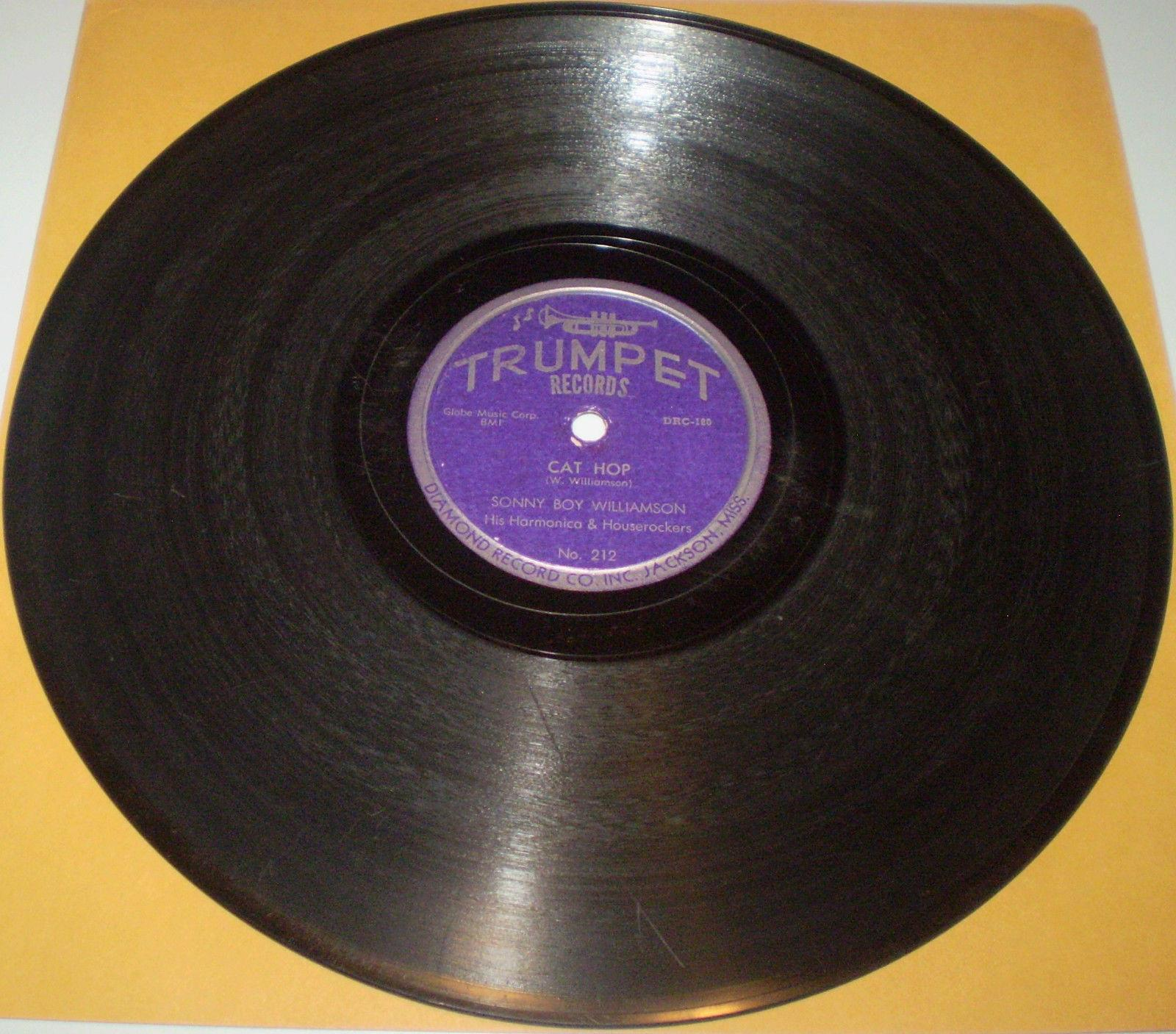 CAT HOP / TOO CLOSE TOGETHER Sonny Boy Williamson 78 TRUMPET 212 Jackson MS