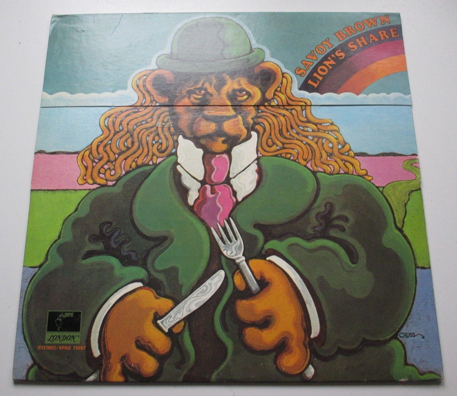 SAVOY BROWN 'LION'S SHARE' ORIG W/ FLIP TOP COVER UNDAMAGED '73 MINT