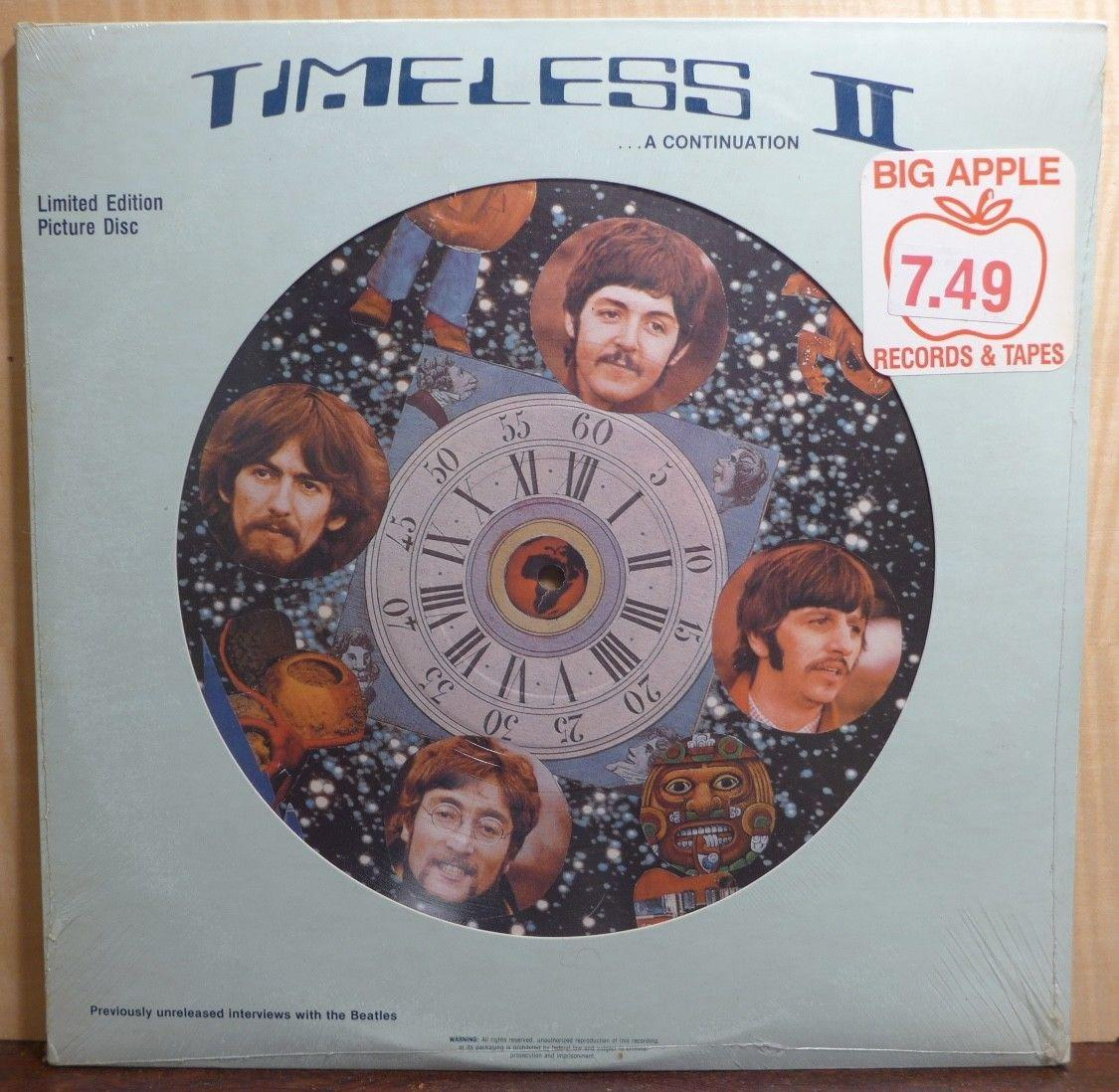 SEALED the beatles TIMELESS II lp SILHOUETTE MUSIC picture disc SM-10010