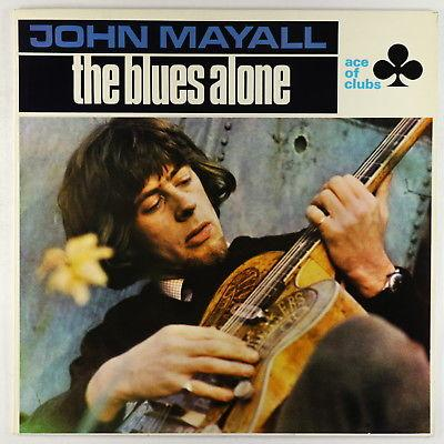 John Mayall - The Blues Alone LP - Ace Of Clubs UK VG+