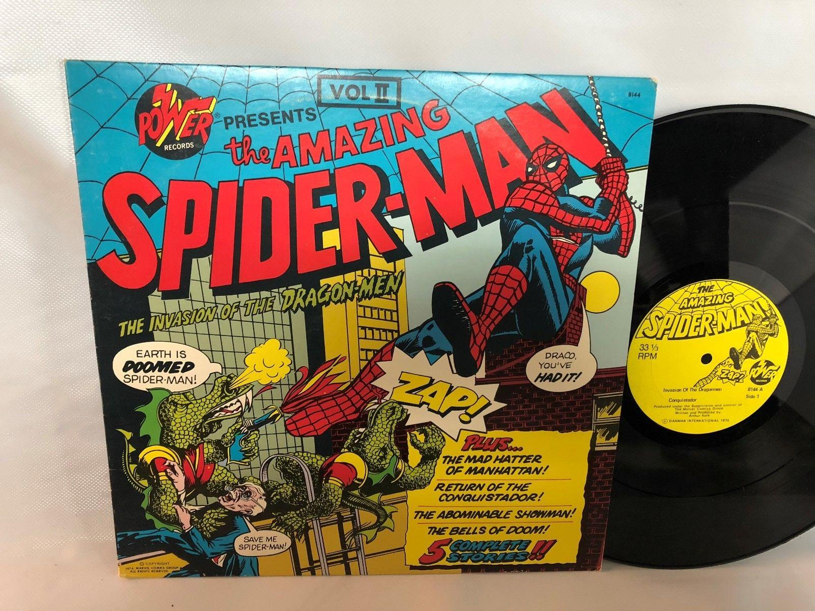Vintage 1974 The Amazing SpiderMan Record LP Stories VG+ Condition Rare