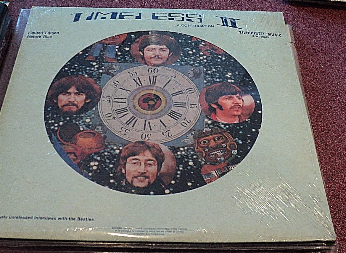 BEATLES TIMELESS II PICTURE DISC LP SEALED INTERVIEWS 1964-1966 SILHOUETTE