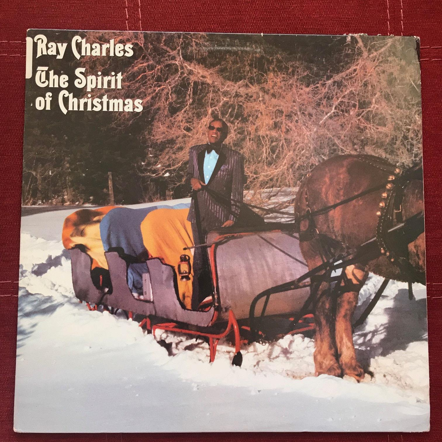 RAY CHARLES The Spirit Of Christmas FC 40125 Vinyl VG+ Griswald Vacation Song