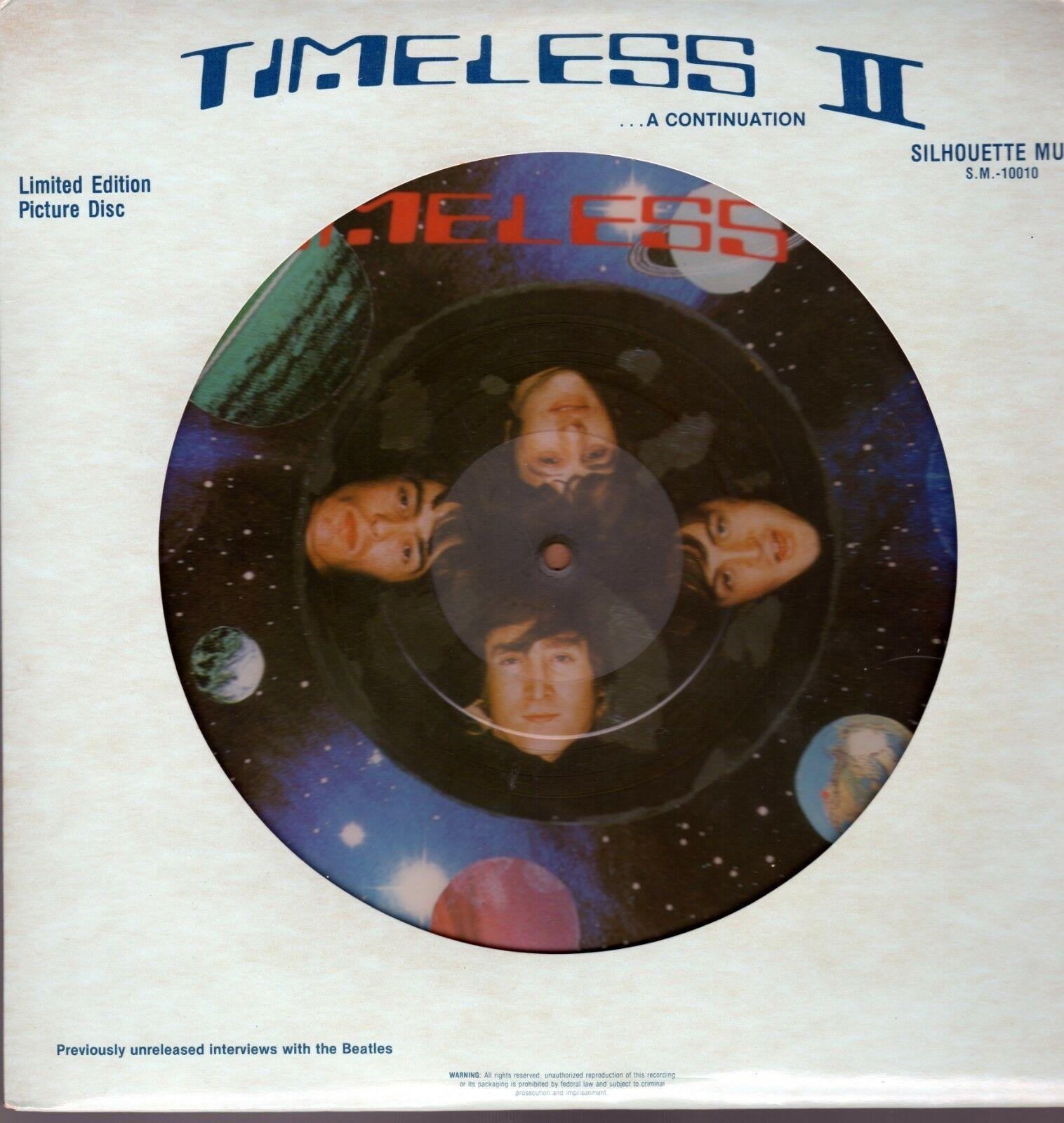 "Beatles ""Timeless II"" 1982 US Silhouette Picture Disc Stock Copy Album"