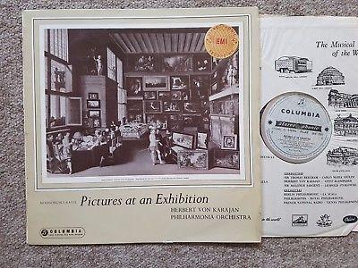 SAX 2261 Mussorgsky Pictures At An Exhibition Philharmonia Orch Von Karajan B/S
