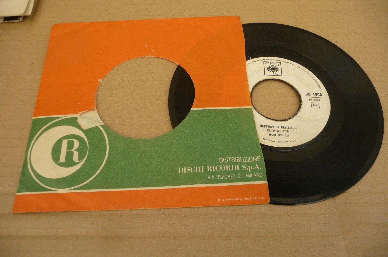 "BOB DYLAN"" HIGHWAY 61 REVISITED- DISCO 45 GIRI CBS Italy 1967"" Ed JB"