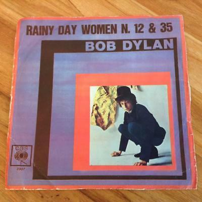 BOB DYLAN * RAINY DAY WOMEN N 12 & 35   PLEDGING MY TIME * 1966 ITALY 45