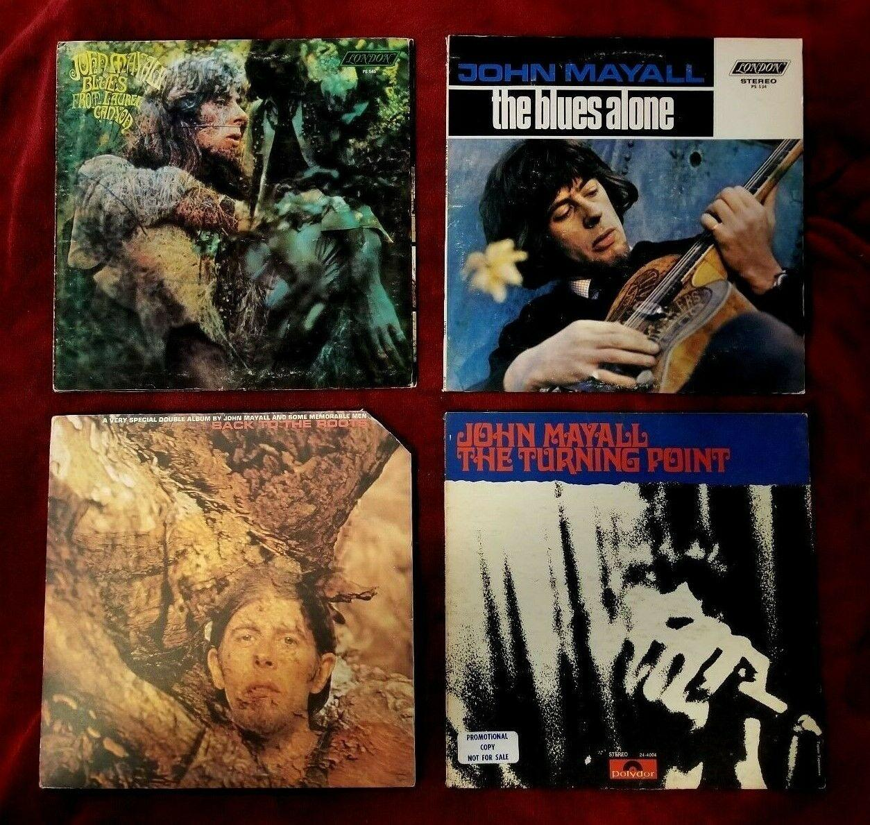 JOHN MAYALL 5 LP LOT: TURNING POINT, LAUREL CANYON, BACK TO ROOTS, BLUES ALONE
