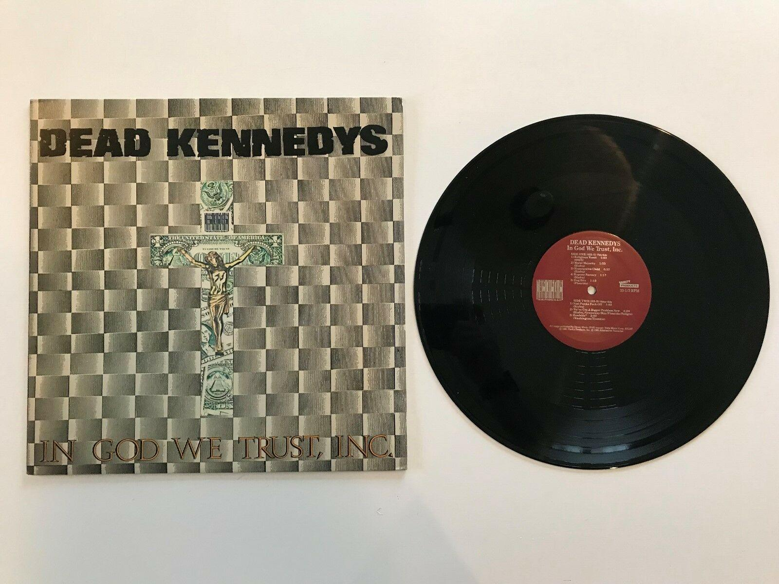 "Dead Kennedys In God We Trust, Inc. 12"" Red Labels EX/EX Punk"