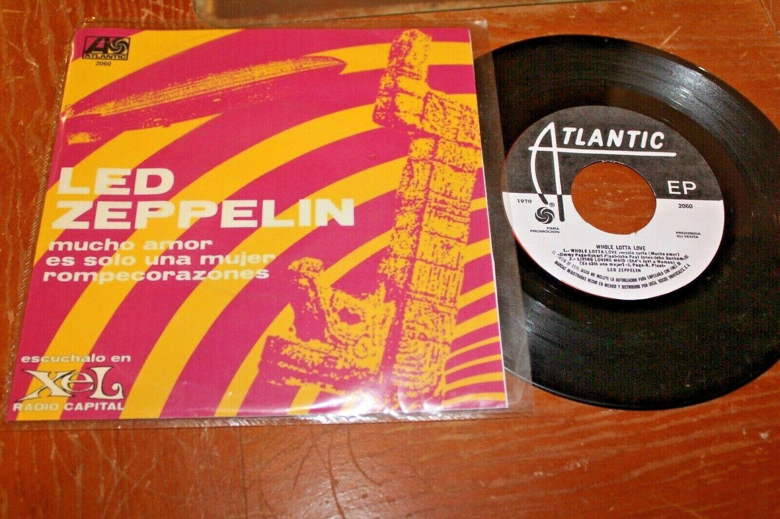 "LED ZEPPELIN Whole Lotta Love +2 1970 MEXICO 7"" RADIO PROMO EP Psych"