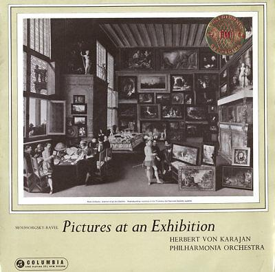 COLUMBIA SAX-2261 ES1 B/S MUSSORGSKY Pictures at an Exhibition KARAJAN EX