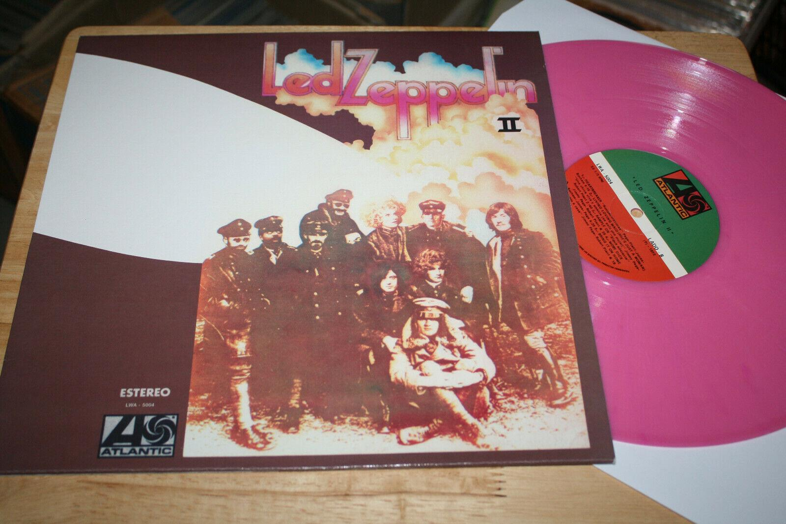 Led Zeppelin II - Rare Atlantic 1st Press Mexico Color Hard Rock Vinyl LP RE TOP