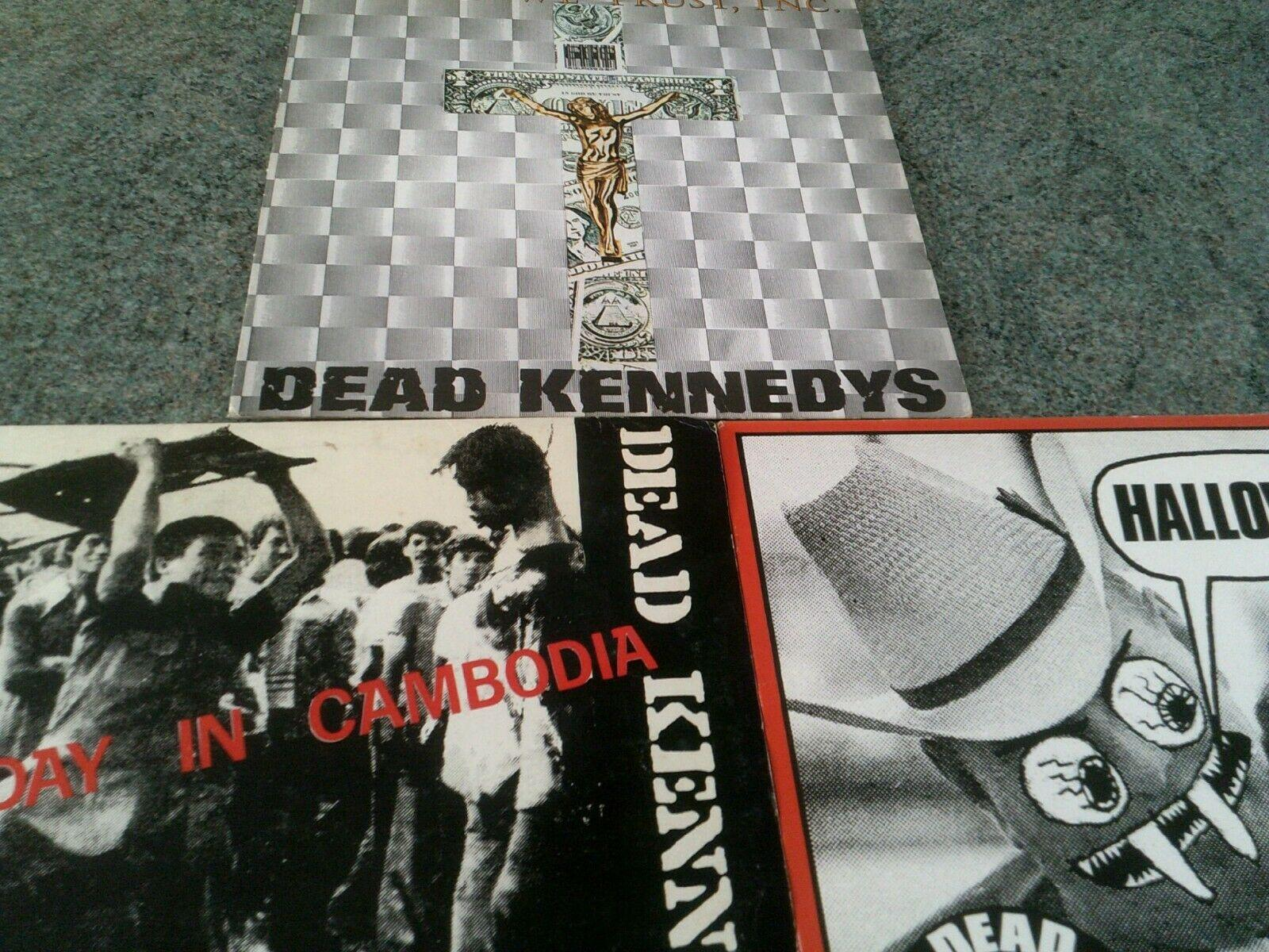 Dead Kennedys,Halloween/In God we Trust/Holiday in Cambodia 3 x 12in punk vinyl
