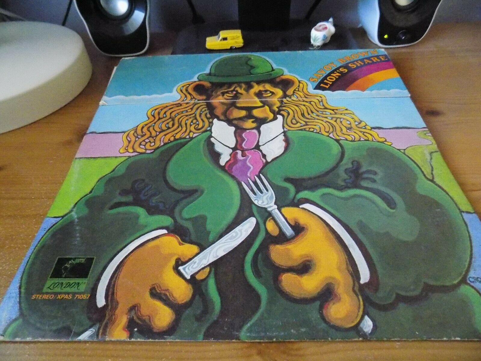 SAVOY BROWN-LION'S SHARE RARE 1970s BLUES ROCK VINYL LP