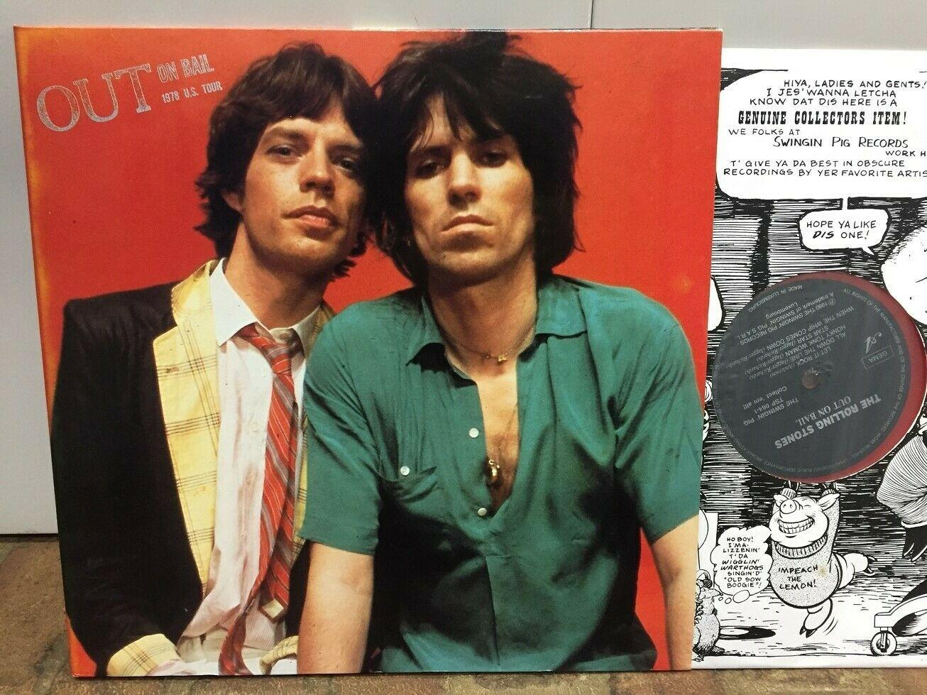 Rolling Stones OUT ON BAIL - TSP 2LP Color Wax  Clean Wax  Swingin' Pig